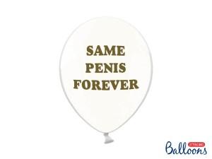 """Balony na Wieczór Panieński - Balony na Wieczór panieński """"same Penis Forever"""" / 30 cm"""