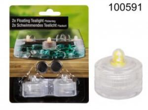 Oświetlenie dekoracyjne LED - Pływająca świeczka LED (2 sztuki)