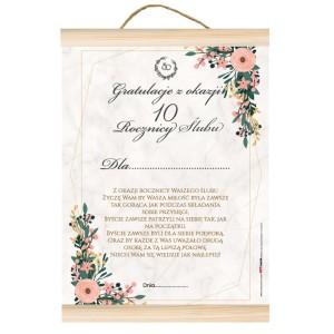 """Dyplomy - Dyplom na Rocznicę Ślubu """"Z okazji 10 rocznicy ślubu"""""""