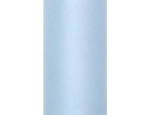 Tiule dekoracyjne 50 cm - Tiul gładki, błękit / 0,5 x 9m