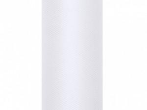 Tiule dekoracyjne 50 cm - Tiul gładki, biały / 0,5 x 9m