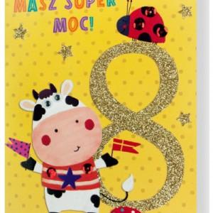 Kartki z życzeniami na 8 urodziny