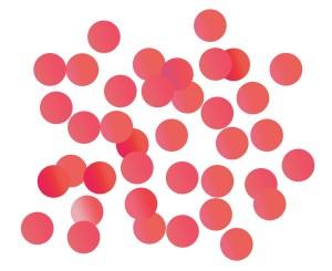 Konfetti kropki - Konfetti foliowe Kółeczka czerwone / 250g
