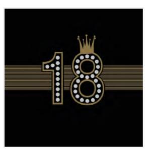 Serwetki bibułowe cyfry i liczby - Serwetki na 18 urodziny / 33x33 cm