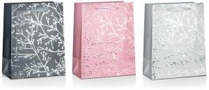 Torebki na prezenty - Torebka na prezent w gałązki, mix wzorów / 26x32 cm