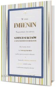 """Kartki Imieninowe - Karnet """"W dniu imienin"""" / HM200-1856"""