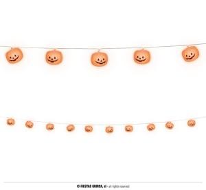 """Dekoracje na Halloween do powieszenia - Girlanda LED """"Dynie"""" / 180 cm"""