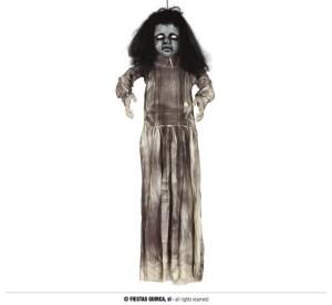 """Dekoracje na Halloween Straszydła - Ozdoba na Halloween """"Straszna lalka"""" z dźwiękiem i podświetleniem / 120 cm"""
