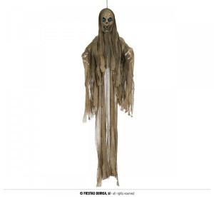"""Dekoracje na Halloween Straszydła - Ozdoba na Halloween poruszająca się """"Mumia"""" z dźwiękiem i podświetleniem / 185 cm"""