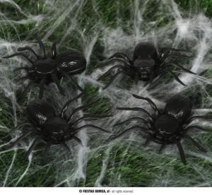 Pająki, robaki, myszy - Plastikowe pająki / 10 cm
