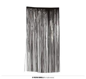 Kurtyny foliowe - Dekoracja - foliowa kurtyna na drzwi - fotościanka, czarna / 100x200 cm