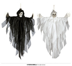 """Dekoracje na Halloween Straszydła - Ozdoba na Halloween czarny """"Szkielet"""" / 75 cm"""