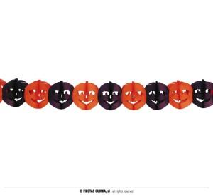 """Dekoracje na Halloween do powieszenia - Girlanda """"Dynie"""" / 22x300 cm"""
