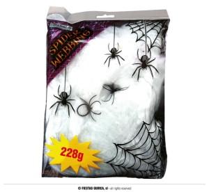 Pajęczyny - Biała pajęczyna z pająkami / 228 g