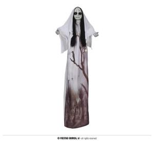 """Dekoracje na Halloween Straszydła - Ozdoba na Halloween """"Upiorna dziewczynka"""" z podświetleniem / 120 cm"""