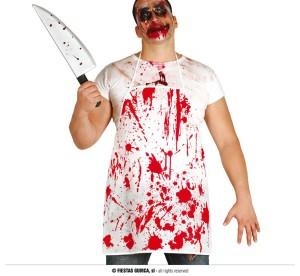 """Fartuchy - Przebranie na Halloween """"Zakrwawiony fartuch"""""""