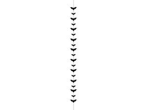 Dekoracje na Halloween do powieszenia - Ozdoba na Halloween czarne Nietoperze / 1,5 m