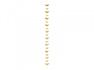 Dekoracje na Halloween do powieszenia - Dekoracja na Halloween złote Nietoperze / 1,5 m