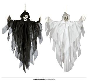 """Dekoracje na Halloween Straszydła - Ozdoba na Halloween biały """"Szkielet"""" / 75 cm"""