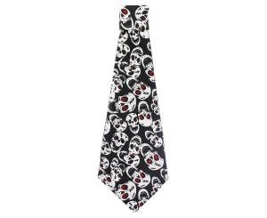 Krawaty - Krawat na Halloween z Czaszkami
