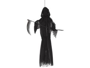 """Dekoracje na Halloween Straszydła - Ozdoba do powieszenia """"Śmierć"""" z podświetleniem / 85 cm"""