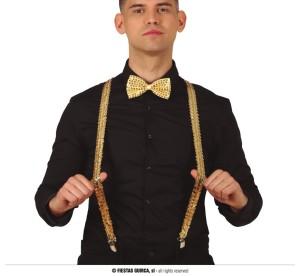 Szelki - Złote szelki z cekinami