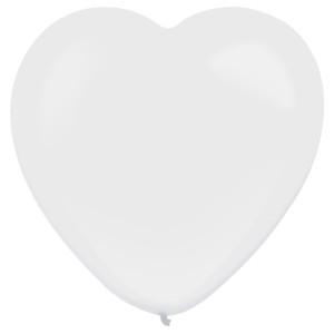 """Balony lateksowe o nietypowych kształtach - Balony lateksowe Serca """"Decorator"""" Standard Frosty White / 12""""-30 cm"""