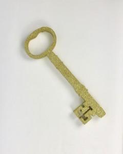 Ozdoby ze styroduru - Dekoracja złoty klucz andrzejkowy, mały