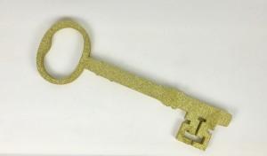 Ozdoby ze styroduru - Dekoracja zloty klucz andrzejkowy, duży