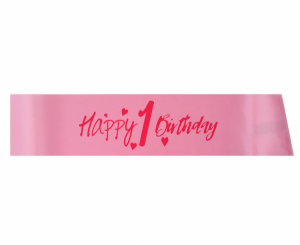 "Szarfy - Szarfa ""Happy 1 Birthday"""