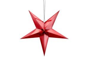 Gwiazdy wiszące - Czerwona gwiazda świąteczna / 45 cm
