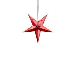 Gwiazdy wiszące - Czerwona gwiazda świąteczna / 30 cm