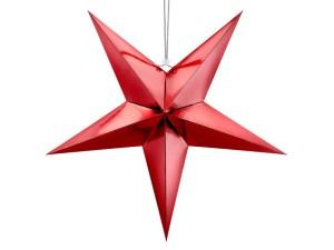 Gwiazdy wiszące - Czerwona gwiazda świąteczna / 70 cm