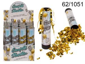 Konfetti wystrzałowe paski - Wystrzałowe konfetti srebrne