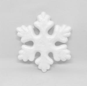 Gwiazdki styropianowe - Śnieżynki styropianowe / 15x15 cm