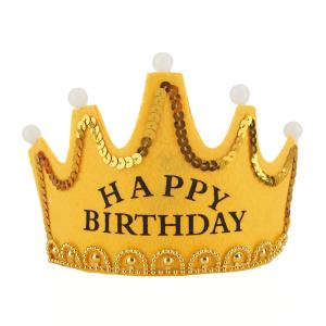 """Korony - Korona """"Happy Birthday""""  z podświetleniem LED"""