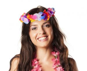 """Wianki na głowę - Wianek hawajski """"Kwiat Hibiskusa"""""""
