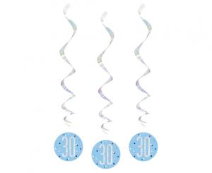Spiralki wiszące - Spiralki dekoracyjne na 30 urodziny / 83798