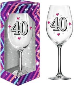 Kieliszki okolicznościowe - Kieliszek do wina na 40 urodziny