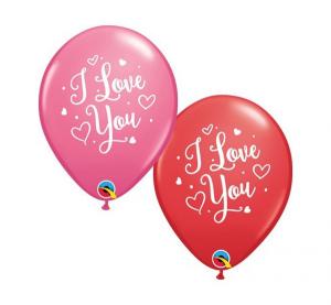 "Balony lateksowe w serduszka - Balon lateksowe 11"" ""I Love You"""