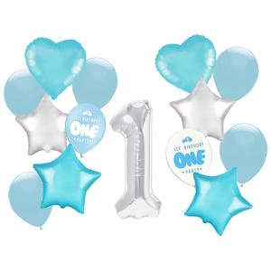 Zestawy balonów na Roczek - Zestaw balonów na Roczek chłopca