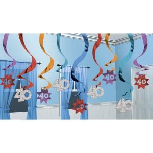 Spiralki wiszące - Spiralki dekoracyjne na 40 urodziny / 679056