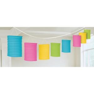 Girlandy z lampionami - Girlanda kolorowe lampiony / 365 cm