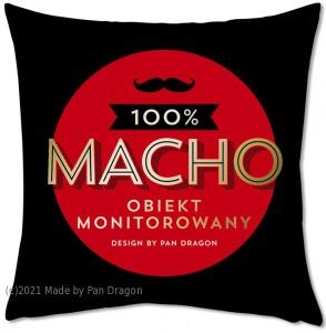 """Poduszki dla dorosłych - Poduszka """"100% Macho"""""""