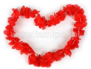 Naszyjniki - Naszyjnik hawajski - czerwony