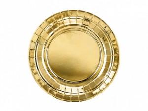Talerzyki jednokolorowe - Talerzyki papierowe złote / TPP57-019ME