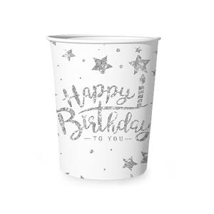 """Kubeczki z napisami papierowe - Kubki """"Happy Birthday"""""""