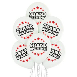 """Balony lateksowe z napisami - Balony lateksowe """"Grand opening"""" (Wielkie otwarcie)"""