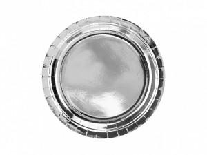 Talerzyki jednokolorowe - Talerzyki papierowe srebrne / TPP36-018ME