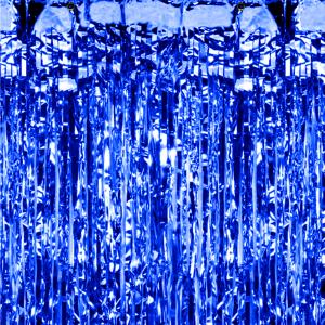 Kurtyny foliowe - Kurtyna imprezowa niebieska / 100x250 cm